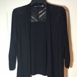 Black knit jacket